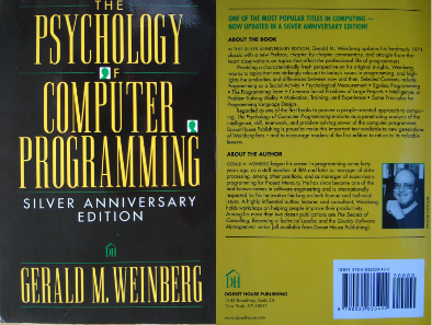 The Psychology of Computer Programming Book